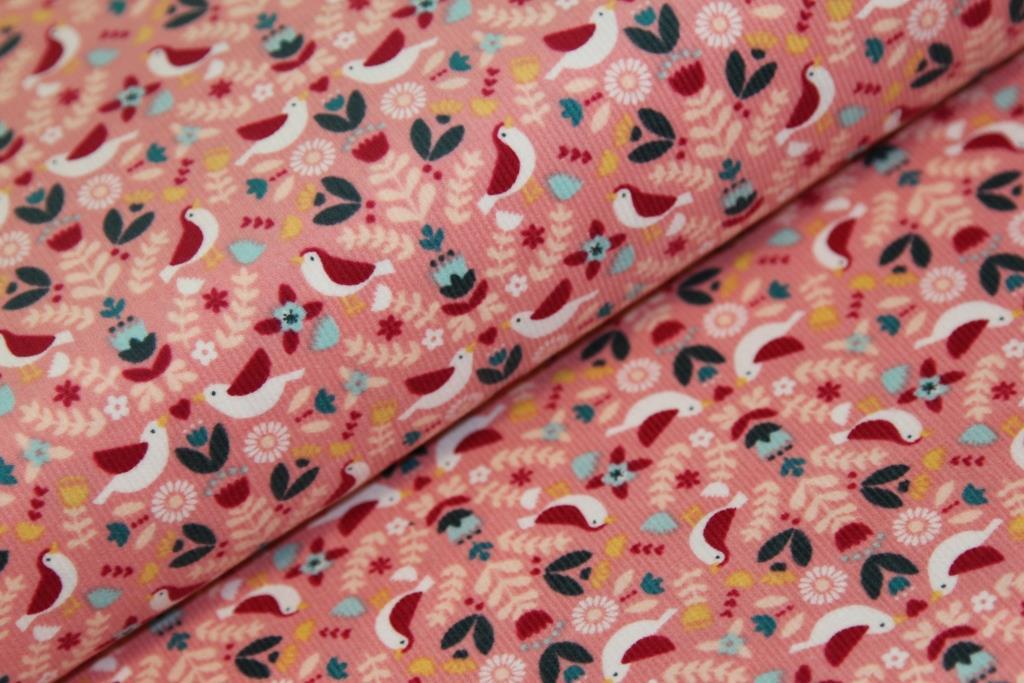 Manšestr - ptáčci - růžová  6df28af1118